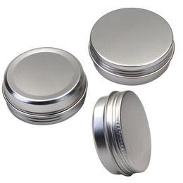 Wholesale Cream Waxing - 60g Aluminum Cosmetic jar, 2 oz Silver metal Makeup Jar Pot Container for Cream, Powder, Gel use, Oil Wax, Lip Balm, spice