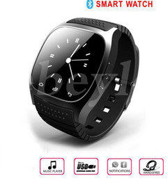 Wholesale Wrist Watches Wholesale Prices - 2016 Bluetooth Smart Watches M26 for iPhone 6 6S Samsung S5 S4 Note 3 HTC Android Phone Smartwatch for Men Women Factory Price