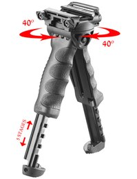 Wholesale T Pod Foregrip Bipod - DEFENSE T-POD G2 PR Rotating Tactical FIFLE Foregrip & Bipod transforms
