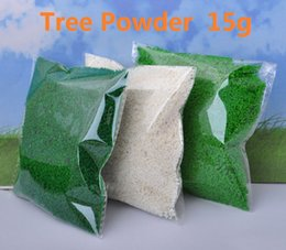 Wholesale Micro Loading - Wholesale- 15g Artificial Tree Powder Sand Table Model Decor Micro Landscape Decoration Home Garden DIY Accessories Building Model Material