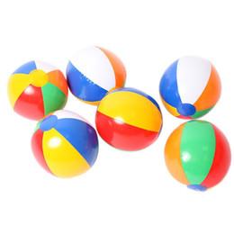 Wholesale New Agents - Beach Ball The New 6 Colour Striped Rainbow Beach Ball Outdoor Beach Ball Water Sports Balloon For Children 23cm