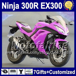 2019 kawasaki morado 7gifts + Inyección para Purple stock KAWASAKI NINJA 300 300R 13 14 F2151 ZX300R EX300 13-14 EX 300 ZX 300R EX300R NUEVO Purple 2013 2014 Fairing kawasaki morado baratos
