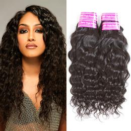 Wholesale Peruvian Big Waves Extensions - Water Wave Peruvian Hair Bundles Brazilian Virgin Human Hair Weave Bundle Deals Top Quality Hair Extensions Big Curly Natural Wave Weaves