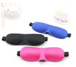 Wholesale Cheap Eye Masks - very cheap High Quality Travel Sleep Rest 3D Sponge Eye Shade Sleeping Eye Masks Cover Nap Rest Patch Blinder for health care mask 100pcs