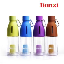 Wholesale Tea Cup Portable - BPA free tea tumbler pp plastic sports travel pot transparent tea strainers cup portable leak-proof glass with clasp