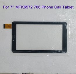 Wholesale Screen Replacements For Phones - For 7 Inch MTK6572 MTK6582 706 3G 2G Phone Call Tablet Touch Screen touchscreen Display Glass Digitizer Digitiser Panel Replacement MQ50