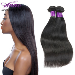 Wholesale New Star Hair Weave - 8A Unprocessed Brazilian Straight Hair 3 Pcs Anno New Star Hair Brazilian Virgin Hair Straight Human Hair Bundles Natural Color