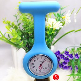 Wholesale Digital Fob Watches - Detonation model Christmas Gifts Colorful Nurse Brooch Fob Tunic Watch Silicone Cover Nurse Watch free shipping