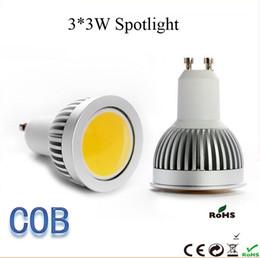 Wholesale Mr16 Lighting Angle - COB Dimmable Led 3*3W Spotlight 120 Angle E27 E26 GU10 GU5.3 MR16 9W Led Bulbs Ceiling Lights Cool Warm White 110-240V 12V