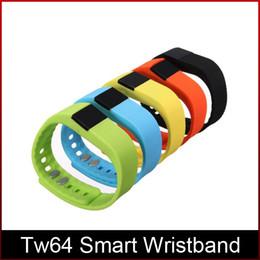 Модный TW64 FITBIT браслет смарт-группа фитнес-трекер активности Bluetooth 4.0 Smartband спортивный браслет 5 цветов для android ios от