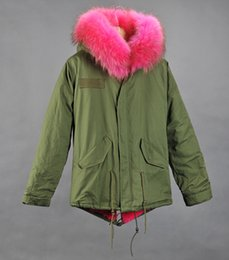 Wholesale Low Price Women S Coat - Cheap Mr&Mrs Fur coats low price snow coats Mr&Mrs Fur mini fake lined army parka with raccoon fur