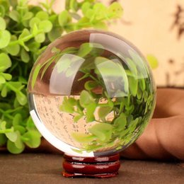 Wholesale Feng Shui Figurines - Wholesale- 40mm Rare Clear Natural Stones Feng Shui Crystal Ball And Minerals Amber Raw Quartz Crystals Figurines Ball Gifts Products