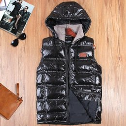 Wholesale Korean Waistcoats Boys - Fall-Men's detachable hood coat vest Korean version of d boys thermal sleeveless cotton waistcoat vest