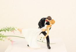 Wholesale Bride Groom Wedding Cake Topper - 2015 Wedding Cake Topper Cute Bride Groom Cake Topper New Arrival Wedding Supplies Cheap In Stock