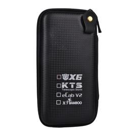 Wholesale Ecab V2 E Cigarette - Big X6 Case X6 KTS Zipper Case E Cigarette leather case bag for X6 kts K100 K201 K200 ecab v2 electronic cigarette starter kit cheap