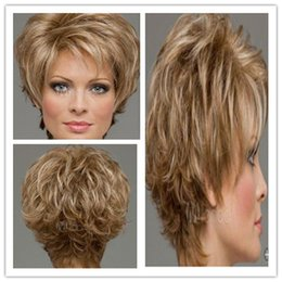 Wholesale Sythetic Hair Wigs - New Full wigs Fashion Sexy short hair Particularly womens hair high sythetic fiber Like human hair exemption from postage