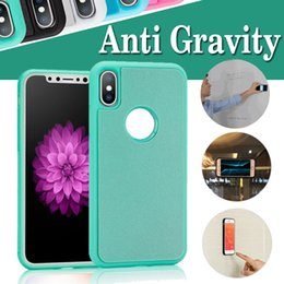 Wholesale Nano Generation - Glitter Generation Anti Gravity Selfie Magical Nano Sticky Antigravity Wall Case Cover For iPhone X 8 7 Plus 6 6S Samsung S8 S7 edge Note 8