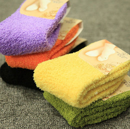 Wholesale Fuzzy Fleece - Ladies Fulffy Socks with 18 Solid Colors Womens Fuzzy Socks for Winter Socks Women