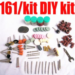 Wholesale Diy Pen Kits - Free Shipping (161 accessories kit) BIT SET SUIT MINI DRILL ROTARY TOOL & FIT for engraving pen air engraving pen DIY kit order<$18no track