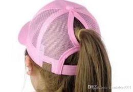 Wholesale Pink Pony Tail - 2017 Hot Sell Women ponytail CC baseball hat Fashion Girl Softball hats back hole Pony Tail Drop Shipping Cheap Sun hat