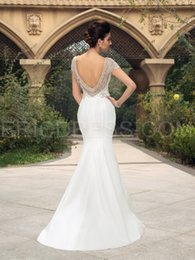 Wholesale Modern Fish - NWD18 2017 fashionable of bride beading tassel backless mermaid wedding dress fish tail plus size custom made bridal gown dresses