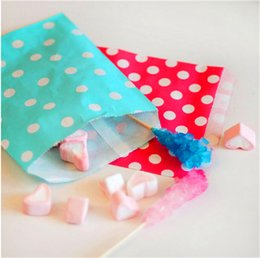 """Wholesale Cheap Brown Bags - Colorful Dot Paper Packing Bags 13cmx18cm 5"""" x 7"""" Candy chocolate cheap Fashion Bag Bitty Party Food Pouches Favor Holder"""