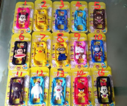 Wholesale Doll Minion 3d - 3D cartoon Universal Silicone Bumper Frame lovely Minions stitch Case Mickey Bear Monster Doll border cases for iPhone 6s plus Samsung s6