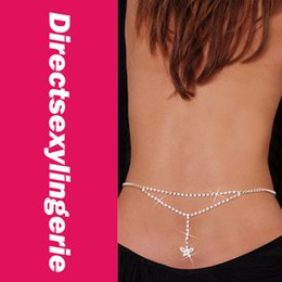 Wholesale Cheaper Wedding Jewelry - Wholesale-Sexy Butterfly Rhinestone Belly Chain and Lower Back LC0638+ Cheaper price + Free Shipping Cost + Fast Delivery