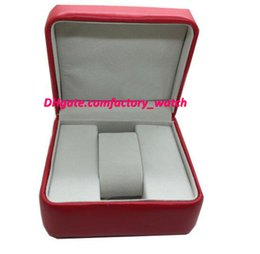 Wholesale Watch Boxes For Sale - Factory Supplier New Luxury Mens Box Swiss Original Brand Red Boxes Papers Watches Booklet Card Gift For Man Men Women Sale