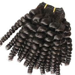 Wholesale Wholesale Hair Nigeria - 6a grade Nigeria Aunty Funmi Hair Unprocessed Brazilian Human Hair Extensions Virgin Spiral Curls 3 Bundles,Bouncy Curly 4 PCS Lots