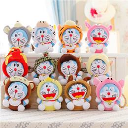 "Wholesale Doraemon Plush Zodiac - 7"" 12pcs lot Twelve Zodiac Doraemon Super Quality Cute Plush Doll Stuffed Toy kawaii Gift Wedding Gift Kids Toys"
