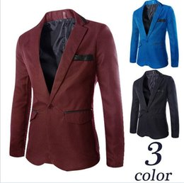 Wholesale Suit Buttons For Sale - Hot sale High Quality New Coming Causal Men Blazers Single Breasted England Fashion blazers Suits For Men Plus Size 3XL new arrive !