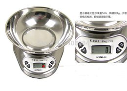 Wholesale Digital Scales Bowls - BY DHL Fedex 5kg 5000g 1g Electronic Digital Kitchen Food Diet Scale balance with Bowl