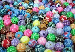 Wholesale Clay Beads Fimo Round - 12MM polymer clay beads polymer clay factories clay beads wholesale bead accessories Fimo WY102 5000p