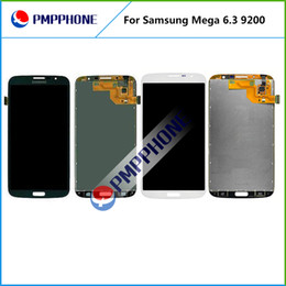 Wholesale Mega Panel - Samsung Galaxy Mega 6.3 i9200 i9205 LCD Touch Screen with Digitizer Assembly Black and White Color Fast DHL Shipping