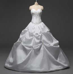 Wholesale Pretty Sweet - Pretty Real Photos Quinceanera Gowns 2016 Halter Embroidery Sequin Ball Gown White Taffeta Cheap Sweet 16 Girls Masquerade Prom Dresses