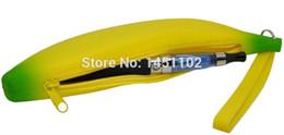 Wholesale E Cigarette Zip - New Fashion Silicon Banana Zip bag Case Cover Bag for Electronic cigarette E Cig Vape