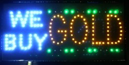 lojas grossistas de alimentos Desconto Venda quente Ultra Brilhante LEVOU Luz de Néon LED Animado Nós compramos Sinal de Ouro Outdoor sinal led indoor