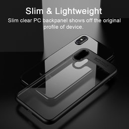 Wholesale Iphone Borders - New Transparent Soft All-inclusive Border Ultra-thin 2 in 1 Anti-drop TPU Soft Case For iPhone X 8 8plus 7 Case with Retail Packa