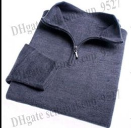 Wholesale Yellow Polo Sweaters - High quality New Zipper sweater Cashmere polo Sweater Jumpers pullover Winter Men's sweater men brand M,L,XL,XXL,XXXL
