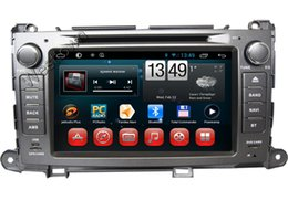 Wholesale Sat Nav Stereo - Android 4.4 car dvd gps sat nav audio stereo with radio rds glonass wifi 3g radio receiver fit for Toyota Sienna