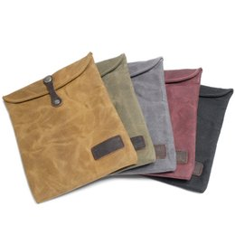 Wholesale Retro Stuff - The new batik cloth iPad Air liner Apple tablet computer bag retro male leather case with oil wax cloth