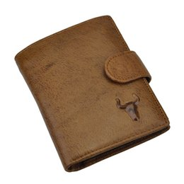 Wholesale Horse Coin Purse - 2015 Brand New Men's Genuine Leather Wallet Men Wallets CRAZY HORSE LEATHER Coin Pocket Fashion Short Design Purse Brown Free Shipping
