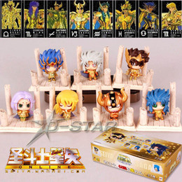 """Wholesale Saint Seiya Action Figures Collection - Free Shipping 7pcs Cute 1.5"""" Saint Seiya the Hades Chapter-Sanctuary Boxed PVC Action Figure Collection Model Toy (7pcs per set)"""