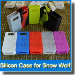 Estuche protector sigelei online-Snow Wolf 200 w Funda de silicona colorida para Snow Wolf Funda protectora Funda protectora VS Sigelei Subox Cubierta