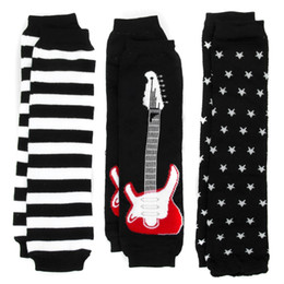 Wholesale Baby Star Leggings - 12pairs lot children boy striped star and guitar Leg Warmer kids 3style spring fall baby Tights leggings adult Arm warmers cute legs