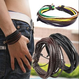 Wholesale Gift Prices - HOT Factory Promotion! New Fashion Jewelry Braided Handmade Leather Bracelets Charms Infinity Bracelets For Men Women Wholesale Price
