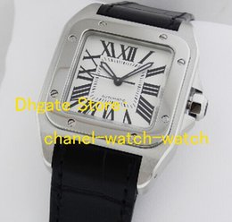Wholesale Square Watch Date Leather Mens - Luxury Hot Sell w20106x8 Automatic Mens Watch Stainless Steel Black Dial And Leather Strap Brand New Men's Date Sport Wrist Watches