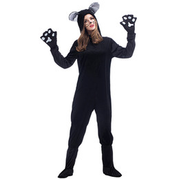 Wholesale Sexy Adult Costumes Animal - Sexy Womens Black Onesie Adult Clubwear party cosplay catsuit Animal Onesies Jumpsuit Pyjamas Pajamas ZF4538 S-XL