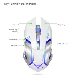 Wholesale Ma Usb - ZERUDATE X70 Gaming Mouse 2.4G Unlimited charging mouse Built in 600 Ma Mini slim usb Charge For PC